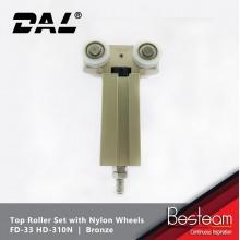 Folding Door Top Roller Set with Nylon Wheels  | DAL® FD-33 HD-310N