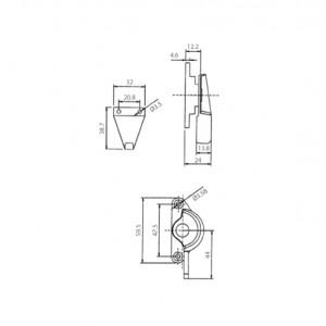DAL® CL-330 BIG Window Crescent Locks
