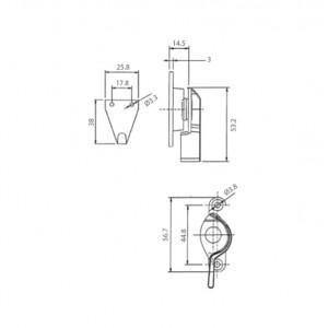 DAL® CL-350 SMALL Window Crescent Locks