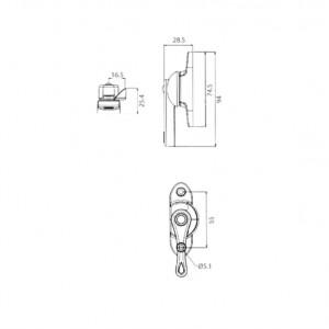 DAL® ML-817 Ambidextrous Window Crescent Locks