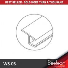 BINGO® WS-03/03A PVC Sealing Strip / Shower Screen Seal Strip Lining (2.5 Meter)