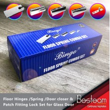 Combo Set Floor Hinges / Spring / Door closer & Patch Fitting Lock Set for Glass Door | Bingo®