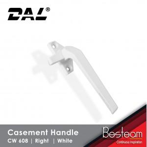 Casement Window Handle Solid Aluminium - Right | DAL® CW-608 (120pcs Pack) NO SCREWS