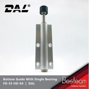 Folding Door Bottom Guide With Single Bearing | DAL® FD-55 HD-04