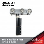 Top Roller with 6 Brass Wheel Folding Door | DAL® 93-TR-B