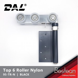 Folding Door Top Roller - Concealed with 6 Nylon Wheel | DAL® 95-TR-N