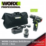 WORX WU130 Cordless Drill/driver 10mm 12V  HIGH EFFICIENCY 1800r/min 30N.m Brushless Motor