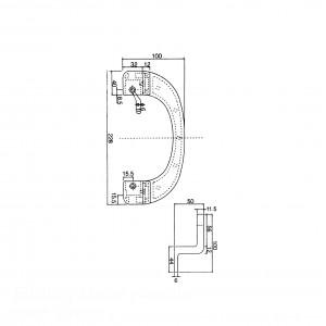 Sliding Door handle Solid Aluminium - HE-1E | DAL
