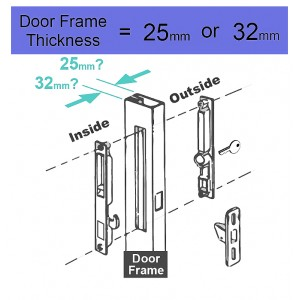 DAL® A-5 Sliding Door Lock without Key (32mm)