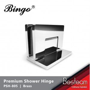 Bathroom Glass Shower Cubicle Premium Shower Hinge screws concealed PSH-805 - Glass to Wall 90° | BINGO®