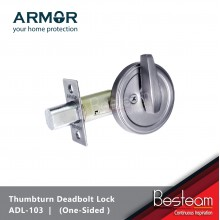 ARMOR® Dead Bolt Door Lock (One Side Thumbturn) Stainless Steel | ADL-103
