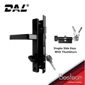 Swing Door Handle Mortise Lock Single/Double Key   DAL® 228 Round Design