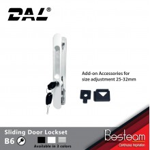 B6 Sliding Door Lockset With Key 25mm/32mm   DAL®