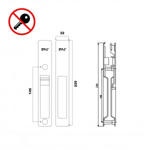 J10 Sliding Door Lockset No Key 32mm-40mm | DAL®